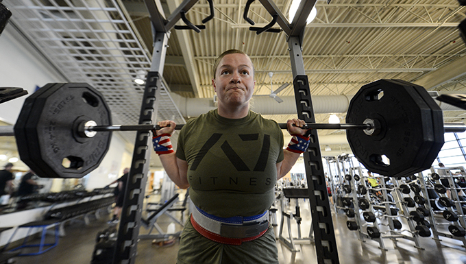 Lifting leads Airman from PT woes to the record books