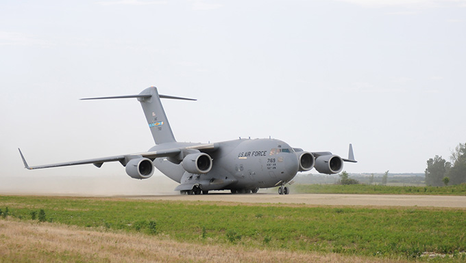 C-17 paves ground for joint training at Fort Riley