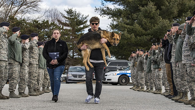 Rico's last call: Squadron, base bids farewell to Airman's best friend
